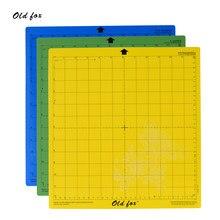 Tapis de coupe avec quadrillé, prise ferme, standard ou léger, anti-dérapant, pour machine à découpe, 12x12 pouces, 3 pièces, adhésif