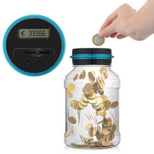 Jar Money-Box Piggy Banks Cash-Box Storage Lcd-Display EURO Count Digital for with USD