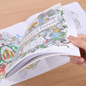 Fill Color Hand Painted Graffiti Coloring Books Ease the Pressure 24 Pages English Edition Enchanted Forest Office Painting Book image