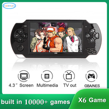 Video Game Console Player X6 for PSP Gamapad Handheld Retro 4.3 inch Screen Mp4 Player Game Player Support Camera,Video,E-book 4 3 inch touch screen handheld game consoles psp games console support hd output 8g memory mp5 with camera ultra thin player