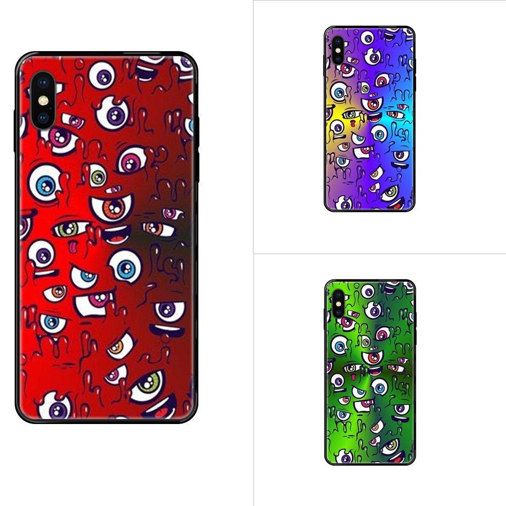 For Xiaomi Mi Max Mix Note 2 3 2S 5X 6X 10 CC9 CC9E Pro Lite Pro Ultra Soft Cellphone Black Cute Funny Many Eyes
