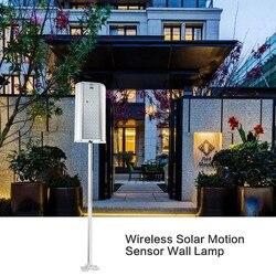 Oryginalny bezprzewodowy czujnik ruchu słonecznego kinkiet 70 LEDs światła uliczne z pilotem wodoodporne oświetlenie zewnętrzne