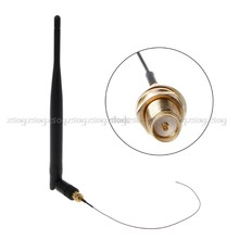 5dBi Dual Band WiFi Antenna + IPX Pigtail Cable For M.2 Wireless Card WLAN/3G/4G WiFi Antenna JUN09 dropship(China)