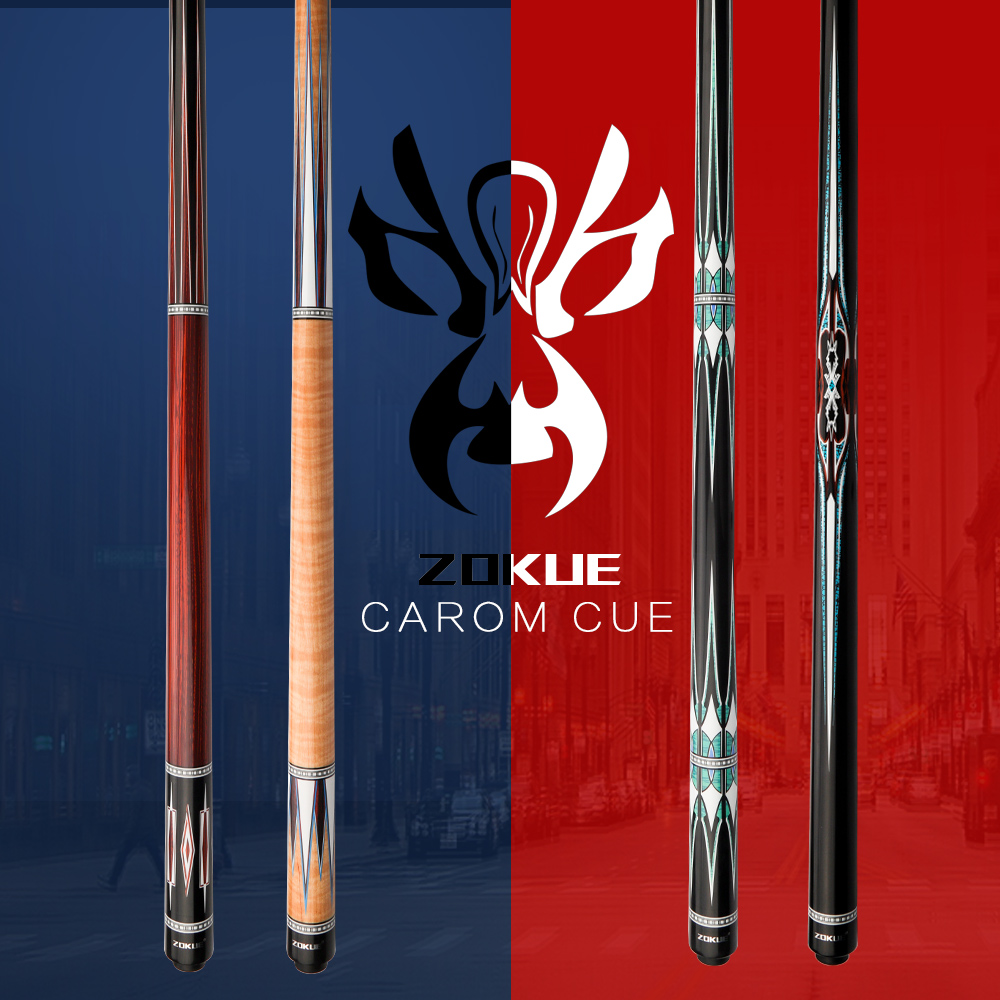Original ZOKUE Billiard Carom Stick Korean 3 Cushion Cue Carom Cue Taper 12mm Tip 142 Cm Selected Canadia Maple Butt Shaft
