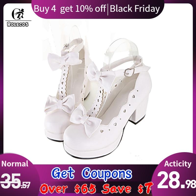 ROLECOS Sweet Lolita Shoes Women High Heels Cosplay Shoes Anime Expo Lolita Single Shoes Female Princess Cute