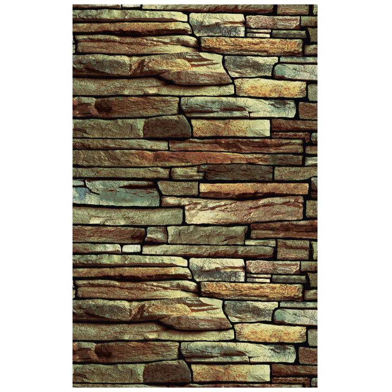 3D Retro Nostalgic Art Stone Cafe KTV Wallpaper Tea House Living Room Restaurant Chinese Style Bricks Stone Wallpaper