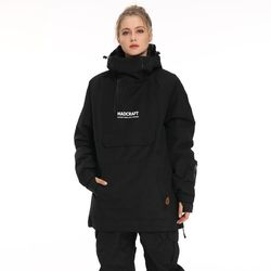 New Pullover Ski Jacket men's winter warm and windproof waterproof snowboard wear ski equipment  black overall snow jackets  -30