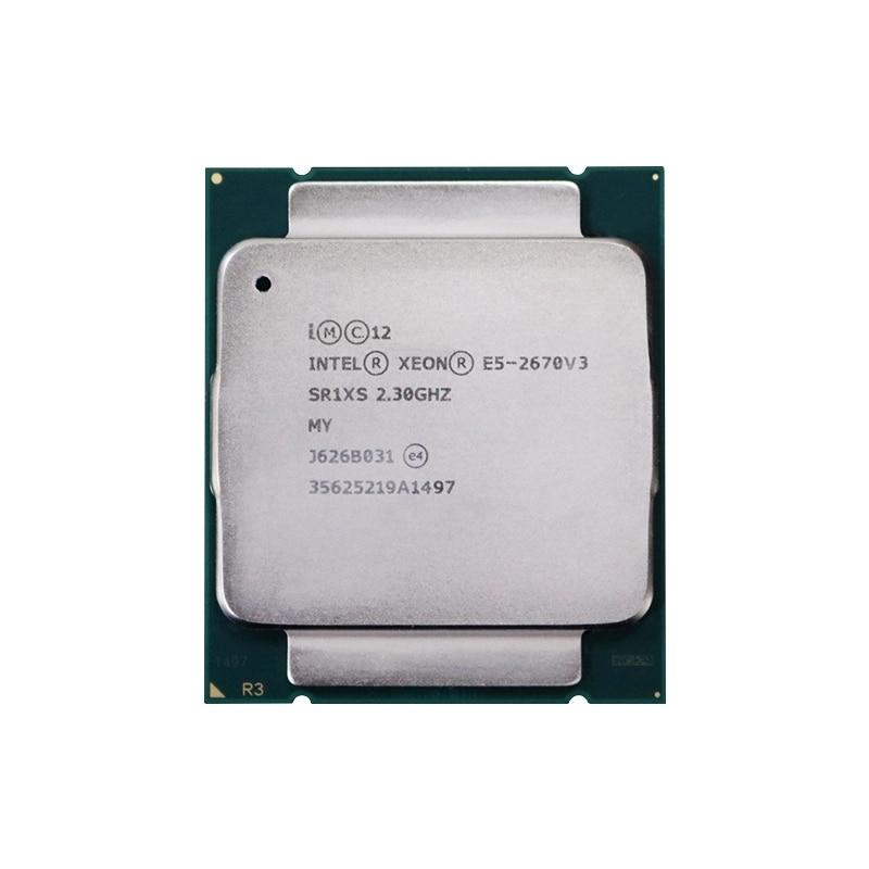 Intel Ксеон E5 2670 V3 Процессор E5-2670V3 SR1XS 2,30 ГГц с возможностью погружения на глубину до 30 м 12 ядер LGA2011-3 процессор