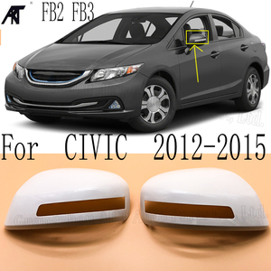 RH и LH боковое зеркало заднего вида крышка для HONDA CIVIC FB2 2012 2013 2014 2015 Замена противотуманных фар крышка с типом лампы