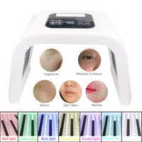 7 Colors Foldable PDT Therapy LED Facial Mask Skin Rejuvenation Photon Device Spa Acne Remover Anti-Wrinkle Red Blue Led Light