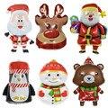 Рождественские шары из фольги, шары Санта-Клауса, снеговик, Рождественский олень, пингвин, воздушные шары, рождественские украшения для дом...