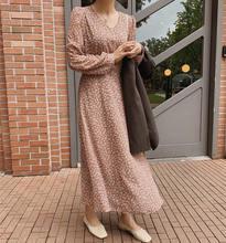 Женское шифоновое платье с длинным рукавом в стиле бохо