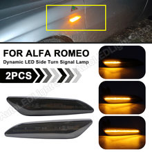 2pc para alfa romeo mito 147 156 fiat egea tipo 356 lancia dinâmico led lado marcador de luz seta pisca sinal indicador da lâmpada