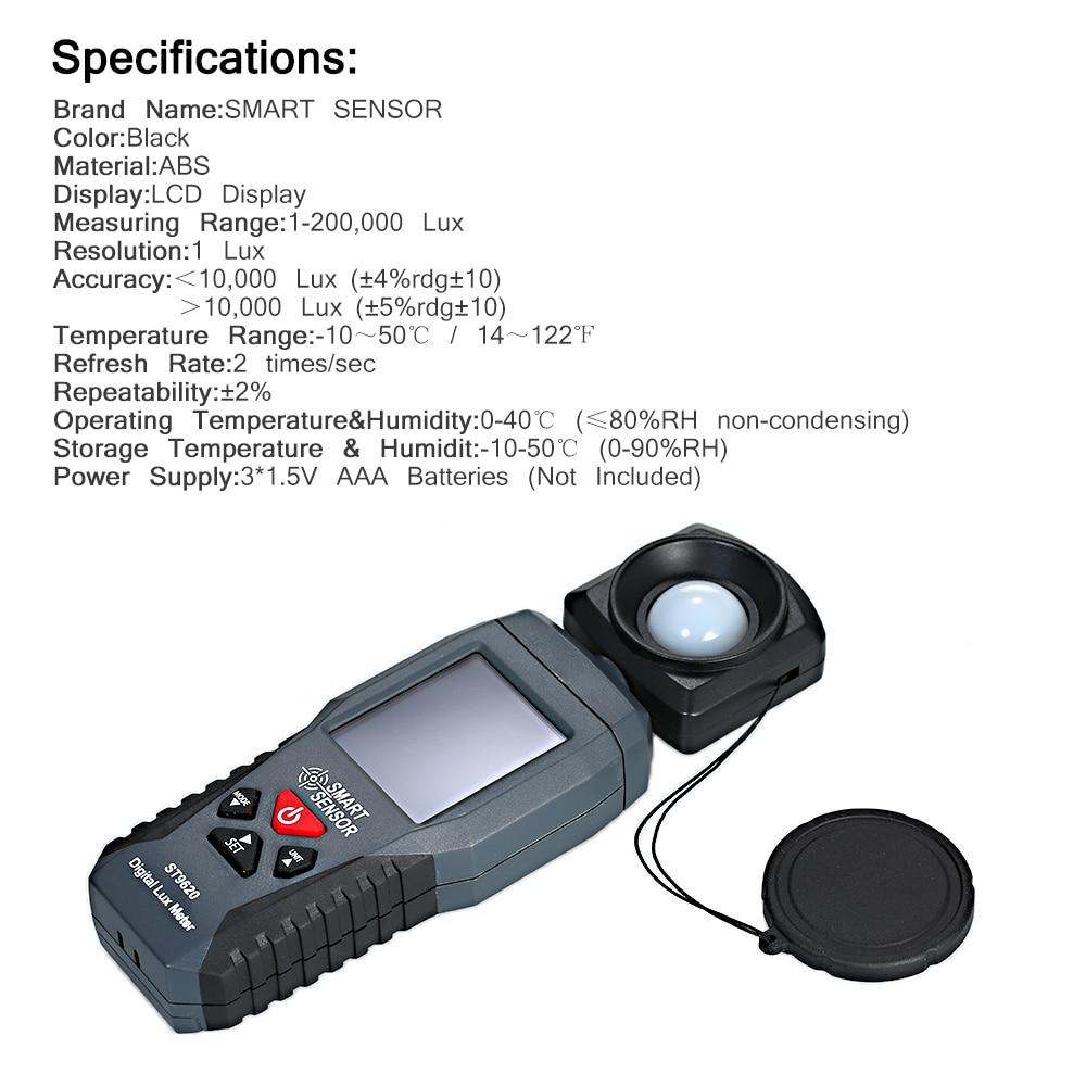 Photometer Illuminometer Digital Luxmeter Luminometer Photometer LCD Display Temperature Measurement Function Low Power Smart Sensor