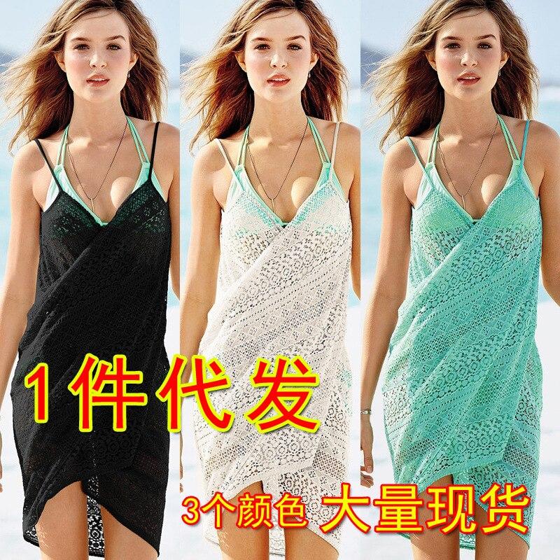 Hot Selling Swim Dress Sun-resistant Skirt Dress Bathing Suit Women's Beach Skirt Beach Bathing Suit Sun-resistant Skirt Lace Ba