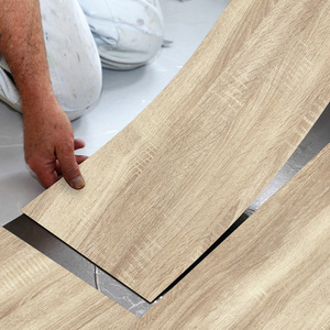 1PCS Modern Style Floor Stickers Wood Grain PVC Waterproof Self-adhesive Bedside Wall Decoration Wallpaper Kitchen Home Decor