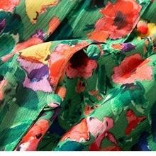 Women Skirt Spring Summer New Small Fresh Floral Long Slit Midi Skirt