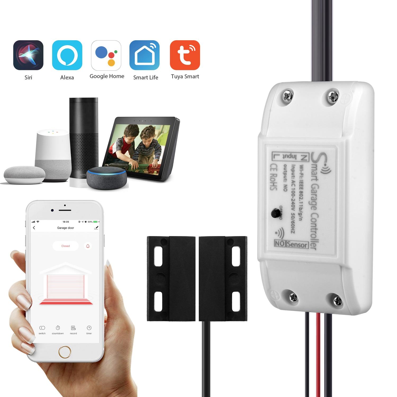 WiFi Smart Garage Door Control Smart Life APP Remote Control Open Close Monitor Compatible With Alexa Echo Google Home