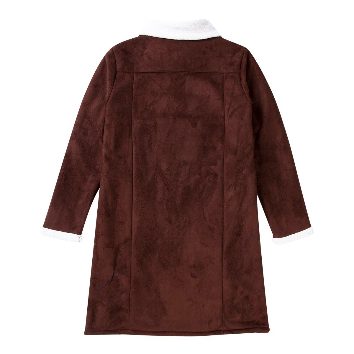 H80103d7eca334ec8ab96df385be237a7Q Men's Winter Warm Trench Windproof Fur Fleece Long Coat Overcoat Lapel Warm Fluffy Jacket Buttons Outerwear Plus Size Coat