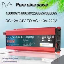 Zuivere Sinus Omvormer 12V/24V Om AC110V 220V 1000W 2000W 3000W Voltage transformator Omvormer Solar Inverter Led Display