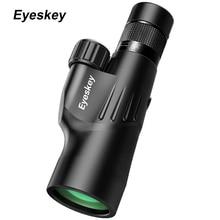 Eyeskey Monocular con Zoom 10 30x50, Prisma Bak4, Monocular potente, impermeable, artículos de caza para acampar con trípode