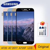 SM A720 Original For Samsung Galaxy A7 2017 A720 LCD A720F A720M Display LCD Touch Screen Digitizer Replacement Parts