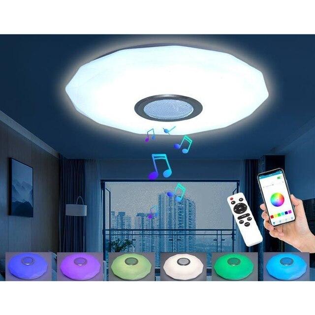 Светодиодный потолочный светильник для музыки с дистанционным