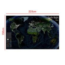Satellite Map Earth At Night 150x225cm Non-woven Waterproof World The Of