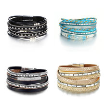 Vintage Spacer Beads Artificial Leather Multilayer Bracelets Snap Jewelry Fit 18mm DIY Snap Button Jewelry Charms Silver Snap Buttons Base DIY Man//Woman Fashion Bracelet Brown Leather