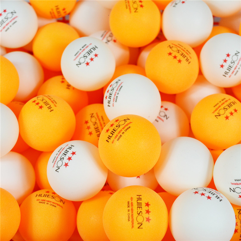 Huieson 100 Pcs 3 Star 40mm+ 2.8g English New Materia Ping Pong Balls ABS Plastic Table Tennis Balls For Training Competition