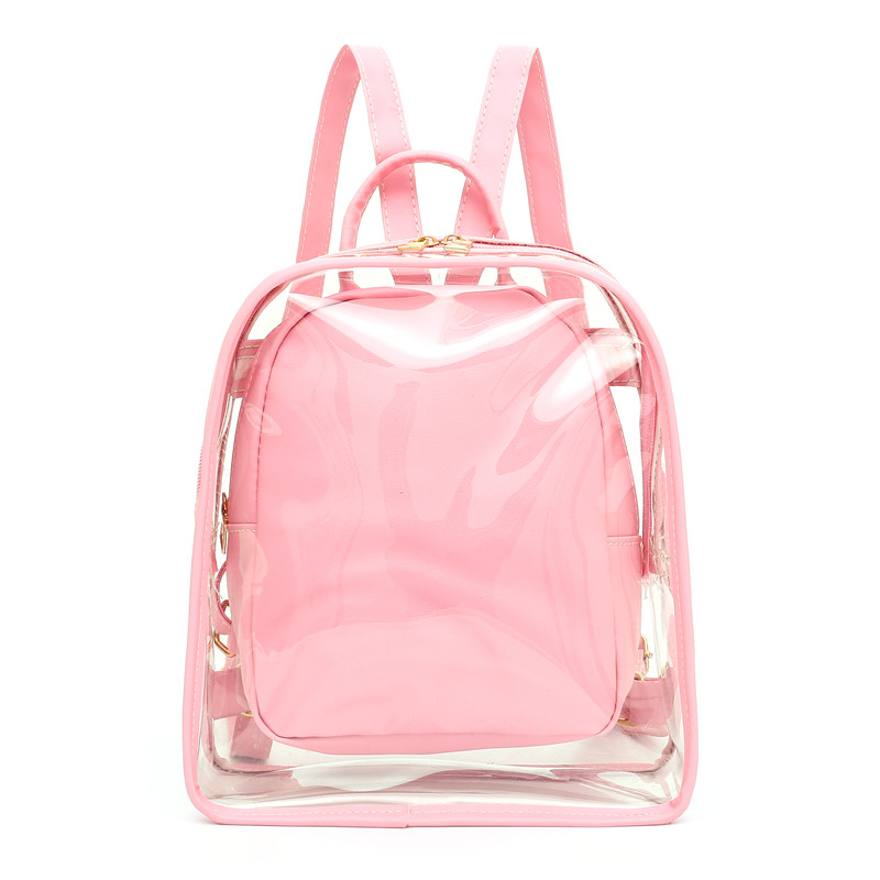 Fashion Transparent Backpack School Bags For Teenagers Girls Jelly Bags Women Backpack 2019 New