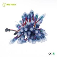 1000pcs 12mm ws2811 2811 ic 풀 컬러 픽셀 led 모듈 빛 dc 5 v 입력 ip68 방수 rgb 컬러 디지털 led 픽셀 빛