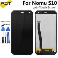 Noir pour NOMU S10 écran LCD + assemblage d'écran tactile remplacement de panneau de verre de numériseur de haute qualité pour S10 universel pantalon