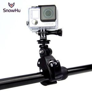 Image 1 - SnowHu Gopro aksesuarları için bisiklet motosiklet bisiklet gidon kolu Bar kamera dağı Tripod adaptörü Gopro Hero 9 8 7 6GP73