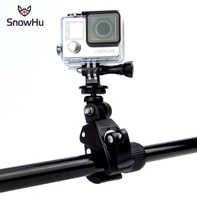 SnowHu Gopro aksesuarları için bisiklet motosiklet bisiklet gidon kolu Bar kamera dağı Tripod adaptörü Gopro Hero 9 8 7 6GP73