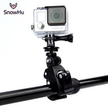 Snowhu para gopro acessórios da bicicleta da motocicleta guiador lidar com barra de montagem da câmera tripé adaptador para gopro hero 9 8 7 6gp73