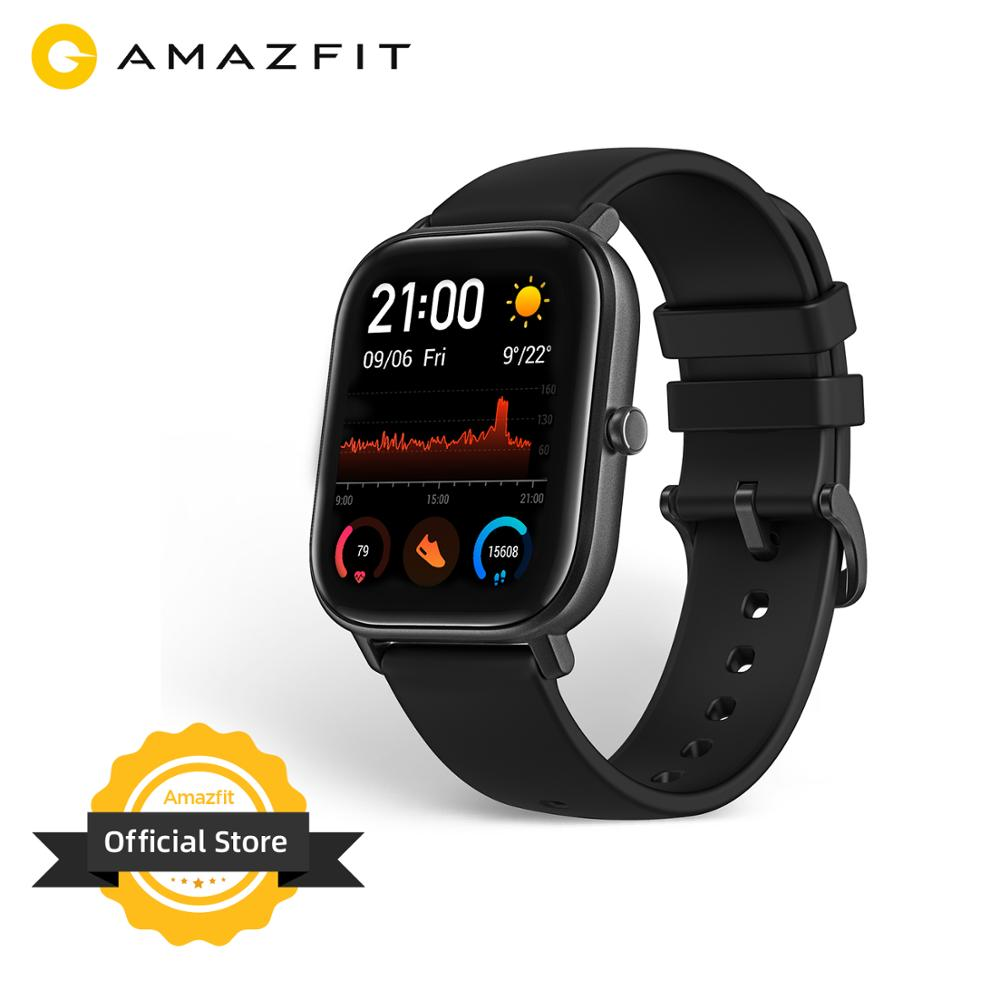 In stock Global Version Amazfit GTS Smart Watch 5ATM Waterproof Swimming Smartwatch 14 Days Battery Music Control for Android|Smart Watches| - AliExpress