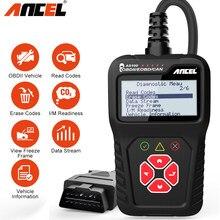 Ancel-escáner automotriz AS100 OBD2, analizador multilingüe de motor, lector de código, herramienta de diagnóstico de coche PK ELM327 1,5 v CR319