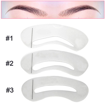 3 Pcs Eyebrow Shaping Stencils Grooming Kit Eyebrow Shaper Set Eye Brow Template Mold Cosmetic Makeup Tools
