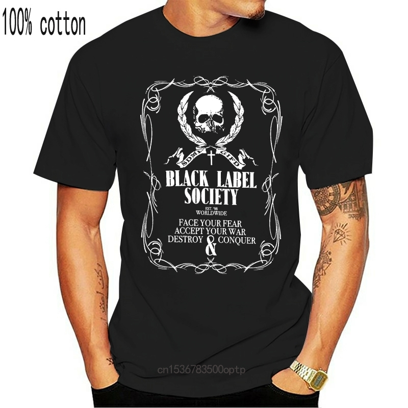 Black Label Society trength T-Shirt - NEW OFFICIAL! 100% Cotton Short Sleeves T Shirts Top Tee Shirts for Men Plus Size