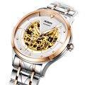 ROSDN Luxus Marke herren Uhren Japan MIYOTA 8N24 Automatische Mechanische Uhr Mann Doppel Skeleton Sapphire 50M Wasserdichte R2128