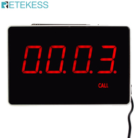 RETEKESS 4-Digit Display Receiver Host Voice Reporting Broadcast สำหรับ Wireless Restaurant Waiter Calling ระบบ 433.92MHz
