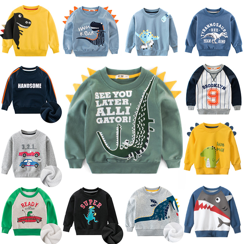 Cartoon Children's Sweatshirt for Girl Sweat Shirt Warm Plus Velvet Child Sweatshirt for Boy Kids Hoodies Baby Winter Clothes 15 1