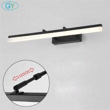 블랙 L35/45/60/70/80/100cm LED 벽 조명 욕실 거울 램프, 캐비닛, 화장실 벽 sconces 110V 220V 벽 램프 정착물