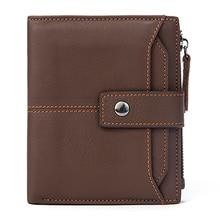 Genuine Leather Men Wallet Vintage Money Bag for Men Cow Leather Purse