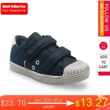 Apakowa Neue Kinder Schuhe Jungen Beiläufige Laufende Schuhe Haken & Loop Mode Sport Jungen Turnschuhe Gummi Kinder Schule Schuhe Größe 25 30