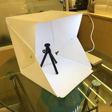 2019 Mini Lipat Lightbox Fotografi Foto Studio Softbox Lampu LED Lembut Box Foto Latar Belakang Kit Kotak Cahaya Kamera DSLR(China)