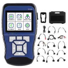 Topdiag tp100 handheld obd scanner inteligente sistema duplo motocicleta detector de bateria diagnóstico apto para honda para suzuki