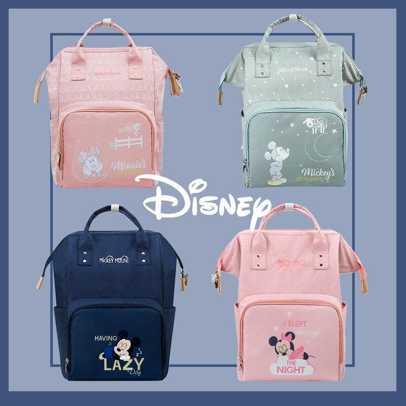 Disney Bag Diaper Bag Minnie Mickey Maternity Backpack Large Capacity Travel Oxford Feeding Baby Diaper Backpack For Mom Handbag