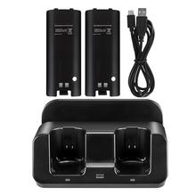 3 in 1 led remote control charging dock station + 2x2800mAh battery for wii u discounts double dual remote charger dock sation 2 battery for nintendo wii remote l3ef